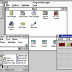 Windows 3.1 interface, circa 1991