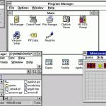 Windows 3.1 interface, circa 1991